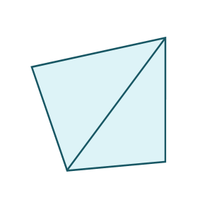 how to find the exterior angle of a quadrilateral