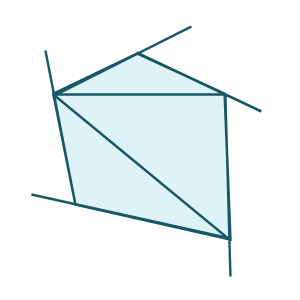 Quadrilateral exterior angles ask professor puzzler What do exterior angles of a triangle add up to