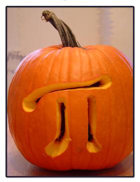 pumpkin pi Carved pumpkin